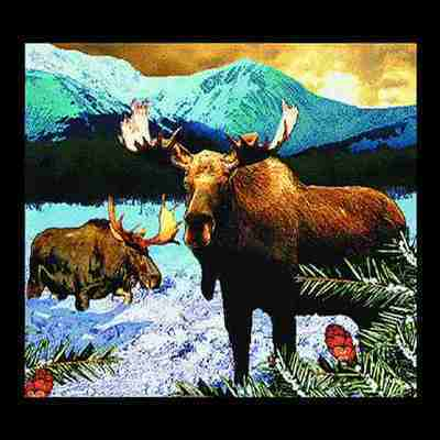 Lodge Moose Mountains Pillow