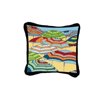 Beach Umbrellas Pillow
