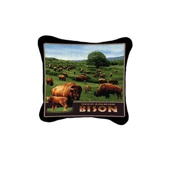 Bison North American Pillow