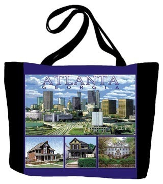 Atlanta Skyline, GA Tote Bag