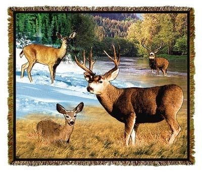 Lodge Mule Deer Coverlet