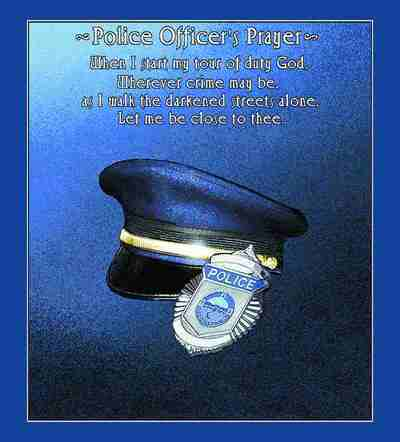 Police Officer's Prayer Plain Coverlet
