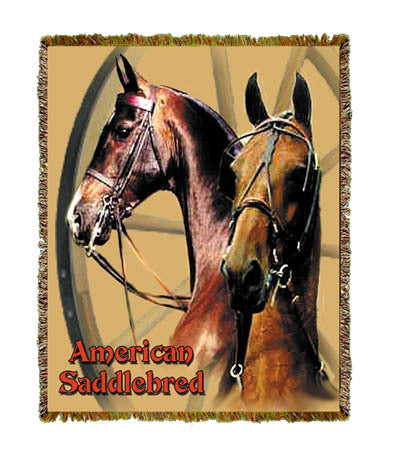 Horse Saddlebred Coverlet