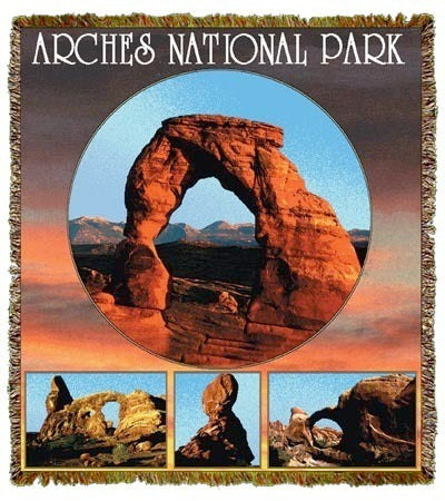 Arches In Utah Coverlet