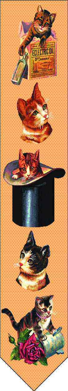 Victorian Cats Bell Pull