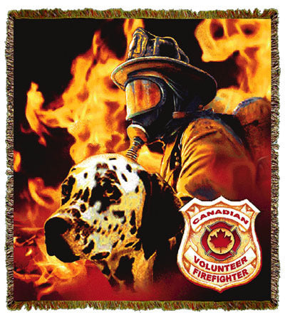 Firefighter Dalmation Canadian Coverlet