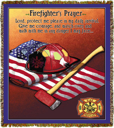 Firefighter Prayer Coverlet