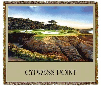 Cypress Point Golf, CA Coverlet