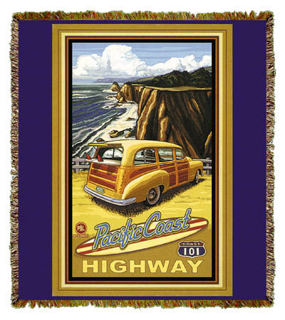 Pacific Coast Highway by Paul A. Lanquist Coverlet