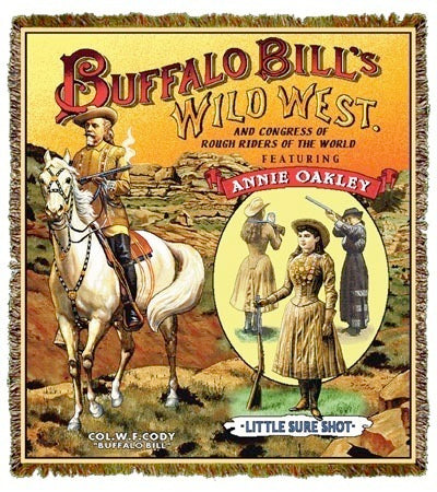 Buffalo Bill & Annie Oakley Coverlet