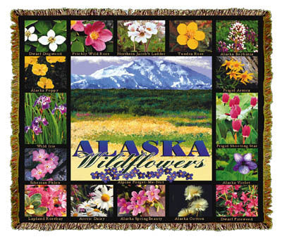 Alaska Wildflowers Coverlet
