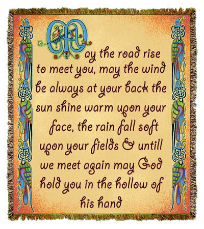 Irish Blessing May the Road Coverlet