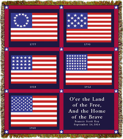US Flag History Coverlet