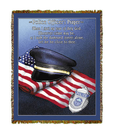 Police Officer's Prayer Coverlet