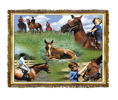 Horse Family Coverlet