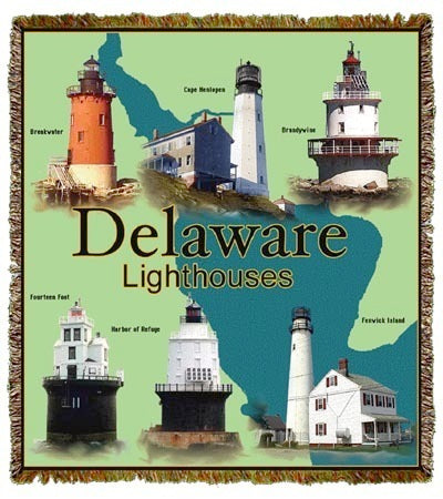 Delaware Bay Lights Coverlet