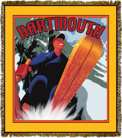 Travel Poster Dartmouth Coverlet