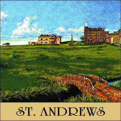 St. Andrews #18 Pillow