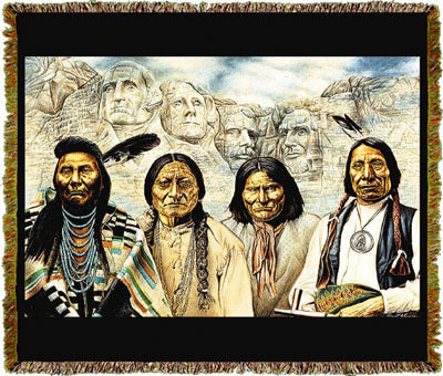 Native American Founding Fathers II Coverlet