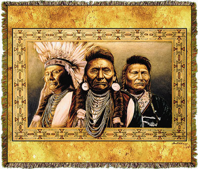 Native American Chief Joseph Coverlet