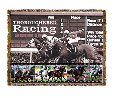 Horse Racing Coverlet