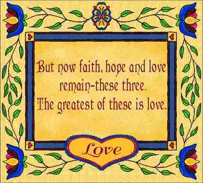 But Now Faith, Hope & Love Coverlet