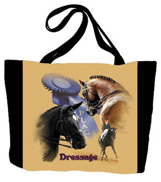 Horse Dressage Tote Bag