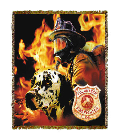 Firefighter Dalmation Coverlet