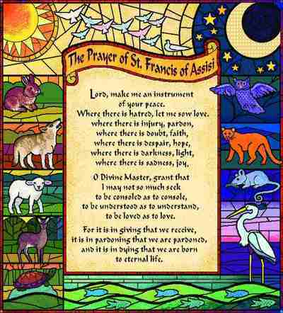 Prayer of St. Francis Throw Blanket