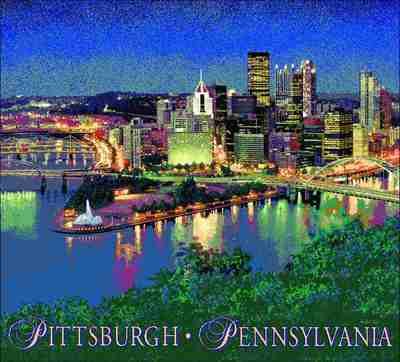 Pittsburgh, PA Skyline Coverlet