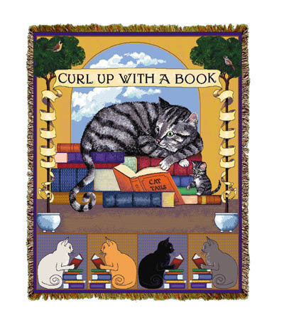 Curl up with Book Coverlet