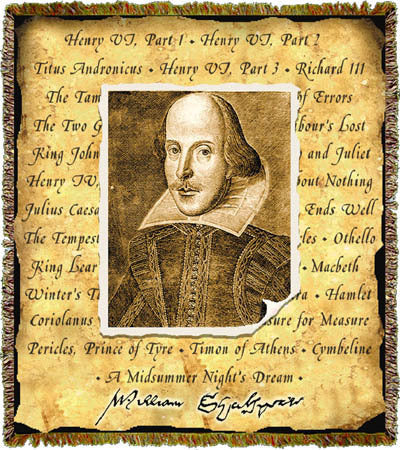 Shakespeare Coverlet