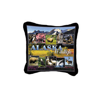 Alaska Wildlife Pillow