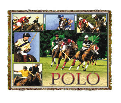 Horse Polo Coverlet