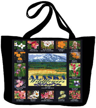 Alaska Wildflowers Tote Bag