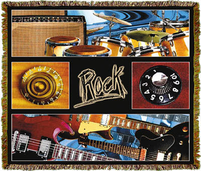 Music Rock Coverlet
