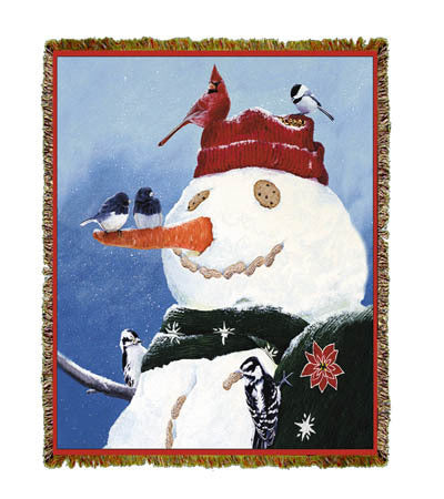 Holiday Snowman's Treat Coverlet