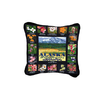 Alaska Wildflowers Pillow