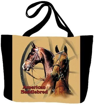 Horse Saddlebred Tote Bag