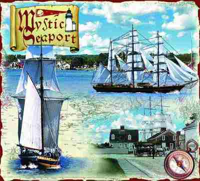 Mystic Seaport CT Coverlet