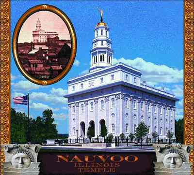 Morman Temple Nauvoo Coverlet