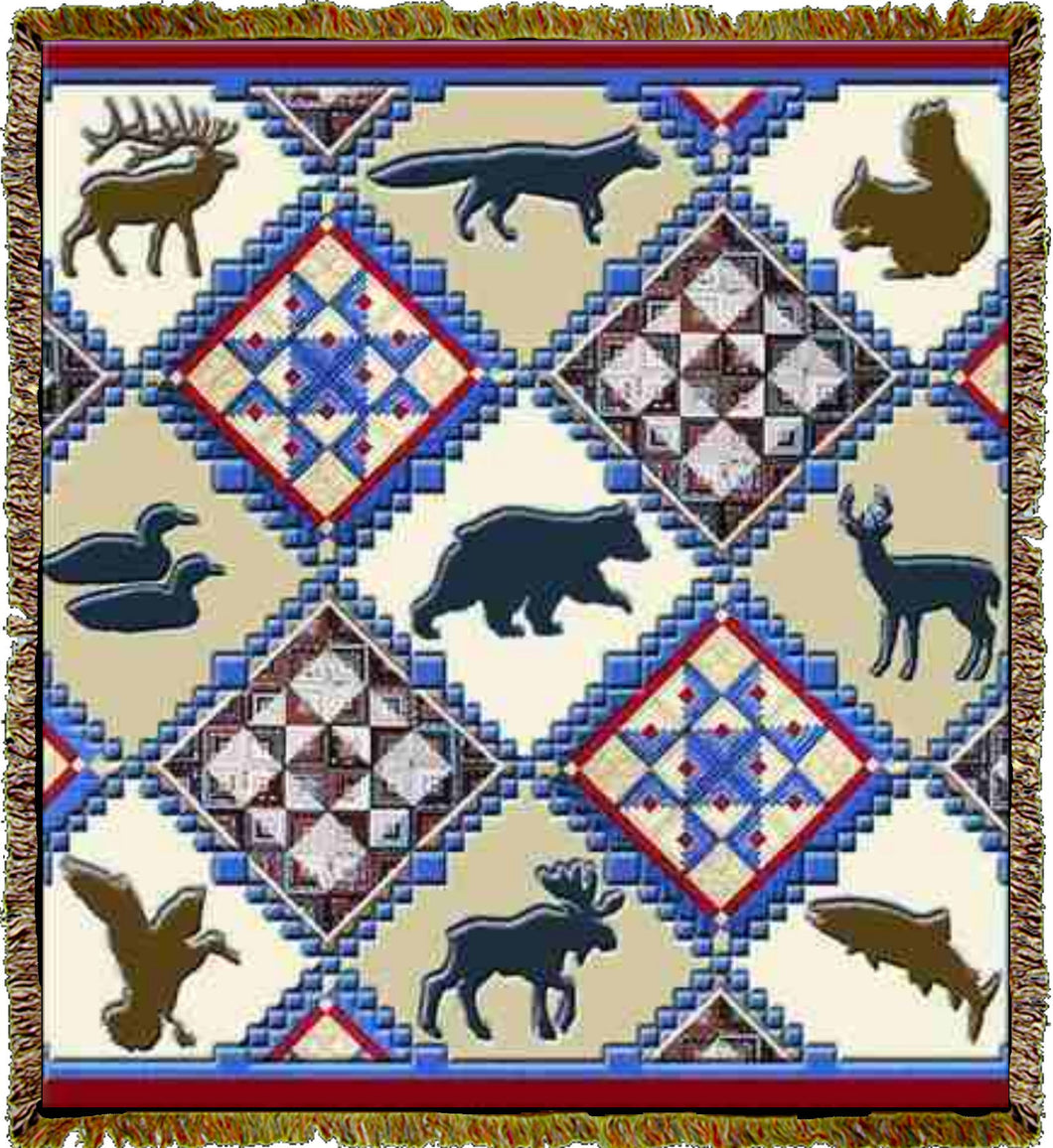 Lodge Animals Throw