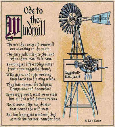 Ode To The Windmill Coverlet ©Ron Knox