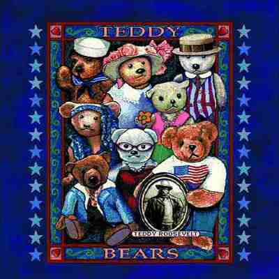 Teddy Bears Americana Pillow