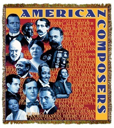 American Composers Coverlet