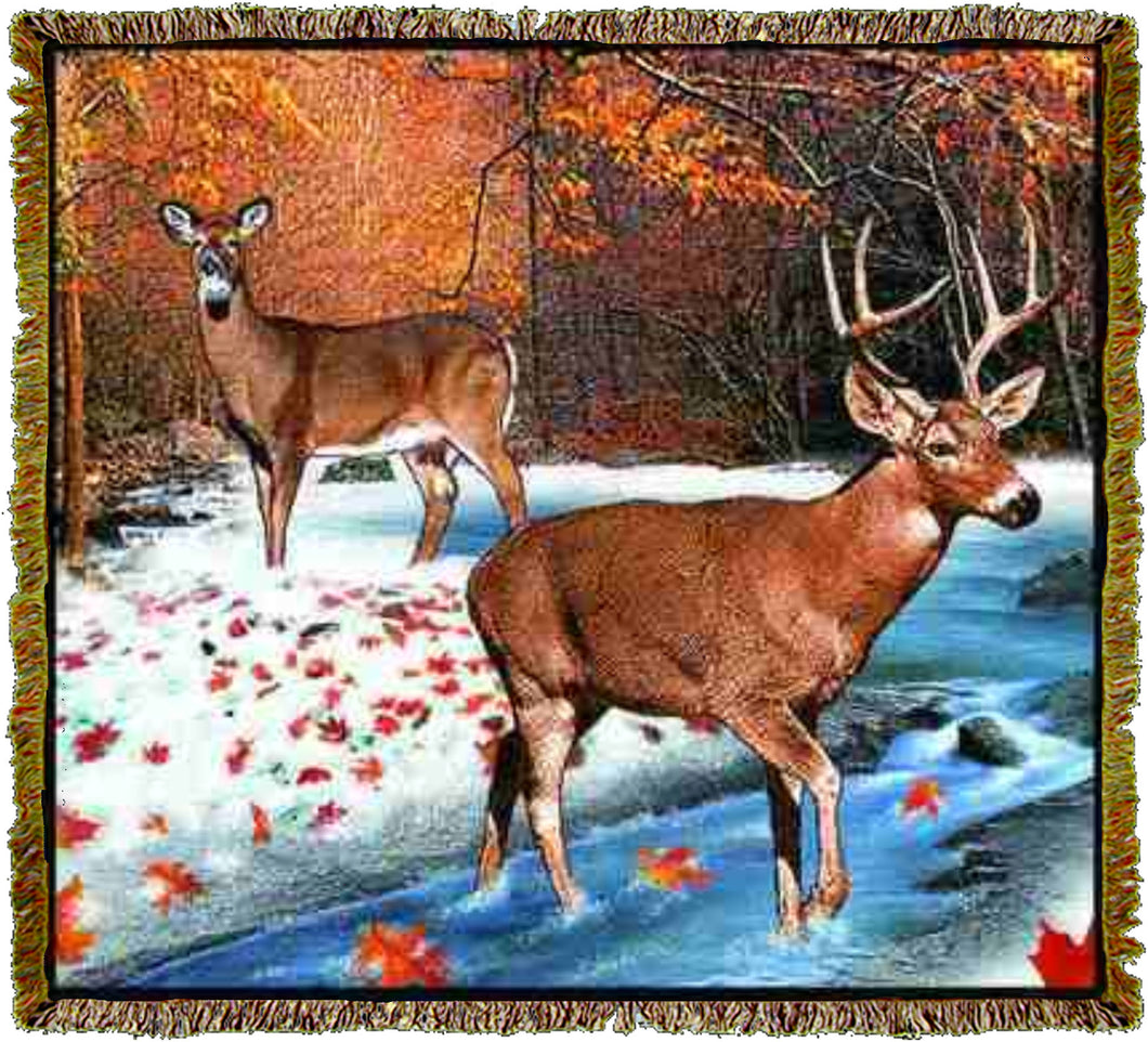Lodge White Tailed Deer Throw