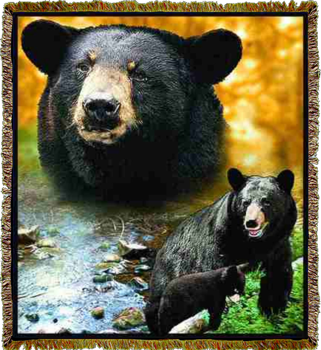 Lodge Black Bear Throw
