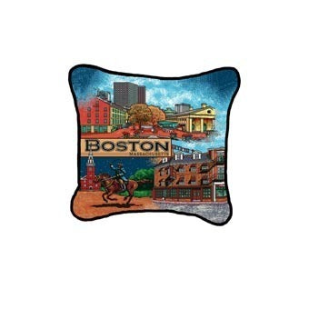 Boston, MA Pillow