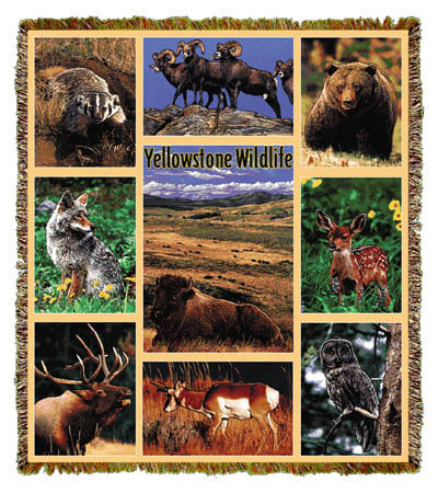 Yellowstone Wildlife Coverlet
