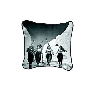 Girls Gone Skiing Pillow